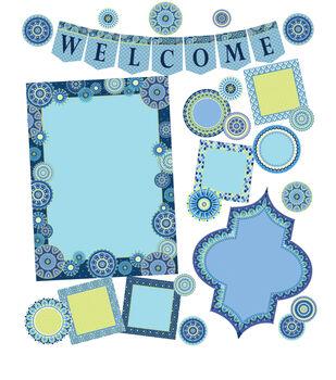 Eureka Bulletin Board Set-Blue Harmony Welcome