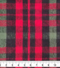 Anti-Pill Plush Fabric 58\u0022-Lauren Red & Green Plaid