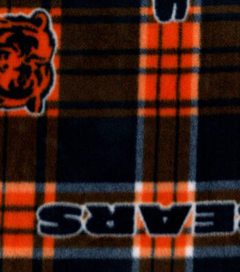 Chicago Bears Fleece Fabric -Plaid