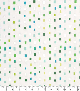 Keepsake Calico Cotton Fabric-Green Multi Square