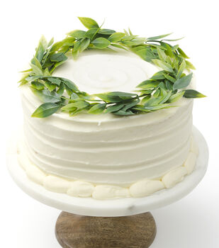 Save the Date 7'' Greenery Wreath Cake Topper