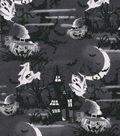 Halloween Cotton Fabric -Haunted House Glitter