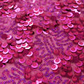 Performance Fame Triple Sequin Stretch Fabric-Pink