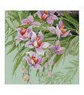 RIOLIS 13.5\u0027\u0027x13.5\u0027\u0027 14-count Counted Cross Stitch Kit-Tropical Orchids