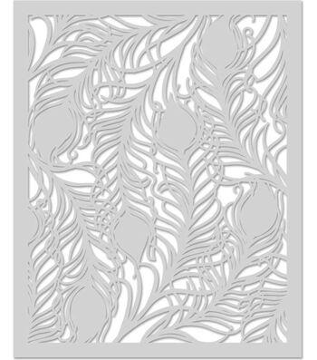 Hero Arts 6.2''x5.2'' Stencil-Peacock Feather