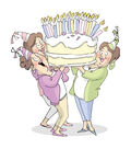 Art Impressions Girlfriends Cling Rubber Stamp Giant Cake 1pc