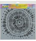 The Crafter\u0027s Workshop 12\u0027\u0027x12\u0027\u0027 Stencil-Floral Eclipse