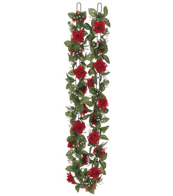 Red Rose Chain Garland