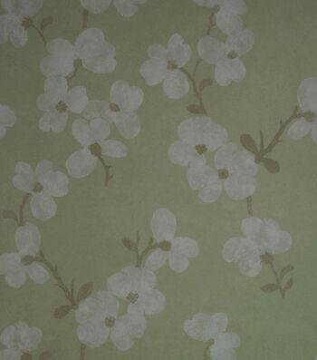 Bebe Light Green Blossom Wallpaper