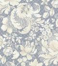 P/K Lifestyles Upholstery 8x8 Fabric Swatch-Distinctly Damask/Shale