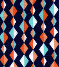 Snuggle Flannel Fabric -Diamond Lines