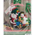 Santa & Snowman Stocking Felt Applique Kit 18\u0022 Long
