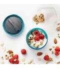 Yogurt & Granola Container with Ice Lid-Blue