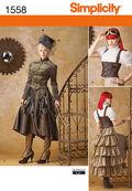 Simplicity Pattern 1558-Misses\u0027 Steampunk Costume