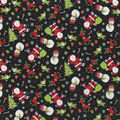 Christmas Cotton Fabric-Tossed Holiday Characters