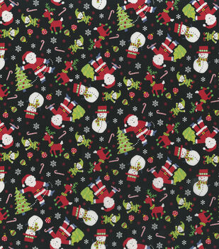 5cd58d3dc079f Christmas Cotton Fabric-Tossed Holiday Characters