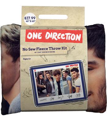 "One Direction Street Style 48"" No Sew Fleece Throw"