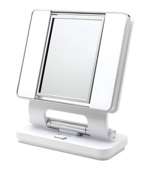 OttLite 26W Dual Sided Makeup Mirror-White