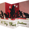 Spellbinders Christmas Shapeabilities 6 pk Etched Dies-Santa Parade