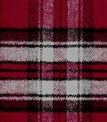 Plaiditudes Brushed Cotton Fabric 44\u0022-Red White Herringbone