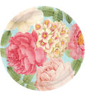 Blissful Blooms Round Plate 10.5\u0022 18/Pk-Green & Pink