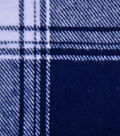 Plaiditudes Brushed Cotton Apparel Fabric -Navy & White Plaid
