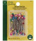 Dritz Quilting Pearl Head Pins 1-1/2\u0022-100/Pkg