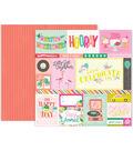 Pink Paislee Confetti Wishes 25 pk 12\u0027\u0027x12\u0027\u0027 Double-Sided Cardstock-#01