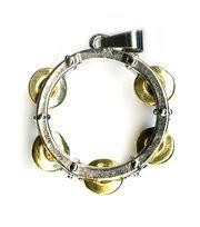 Blue Moon Beads Pendant Metal Tambourine Silver Gold, , hi-res