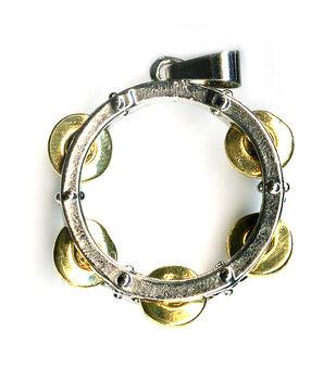 Blue Moon Beads Pendant Metal Tambourine Silver Gold