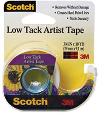 Scotch Low Tack Artist Tape 0.75''x10 yds-White