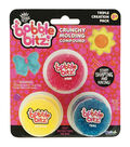 Bobble Bitz Crunchy Molding Compound Triple Pack-Pink, Yellow & Teal