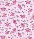 Novelty Cotton Fabric -Fairy Princess on Pink