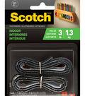 Scotch Fastener Black Indoor Velcro