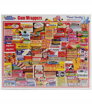 White Mountain Puzzles Jigsaw Puzzle Gum Wrappers