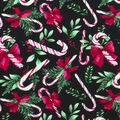 Christmas Cotton Fabric-Tossed Candy Canes
