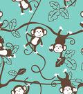 Blizzard Fleece Fabric 59\u0022-Monkey Around