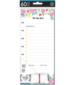 The Happy Planner Girl Classic Half Sheet Paper-Happy Hostess Recipes