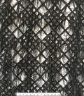 Gianna Mesh Embroidery with Feathers Fabric 55\u0027\u0027-Caviar