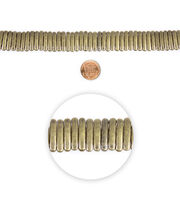 """Blue Moon Beads 7"""" Strand Spacer Bar 2 Hole Oxidized Brass, , hi-res"""