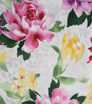Premium Cotton Fabric 44''-Large Floral