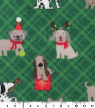 Anti-Pill Plush Fleece Fabric-Christmas Pup Presents