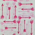 Soft & Comfy Fleece Fabric-Pink & Red Arrows