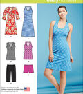Simplicity Patterns Us1111K5-Simplicity Misses\u0027 Easy Knit Sport Dresses, Tunics And Short-8-10-12-14-16