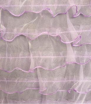 Sew Sweet Mesh Ruffle Fabric 57''-Purple