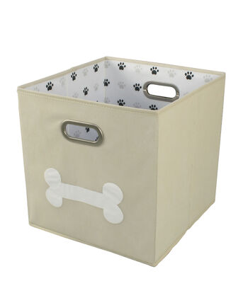 Collapsible Storage Cube-Bone