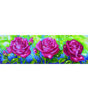 Diamond Dotz Diamond Embroidery Kit 35.5''13.75''-Les Roses du Jardin