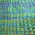 The Witching Hour Fabric-Embossed Foil Blue & Green