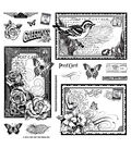 Hot Off The Press Acrylic Stamps 8\u0022X8\u0022 Sheet-Postcards