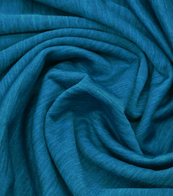 "Loungeletics Stretch Terry Performance Fabric 60""-Heather Blue"